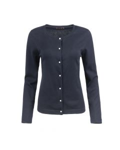 CARDI PEARL BUTTON, NAVY