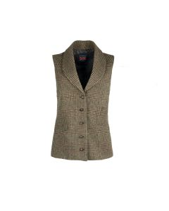 GILET GUNCHECK, BROWN