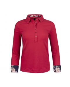 POLO SHIRT LONGSLEEVE , RED