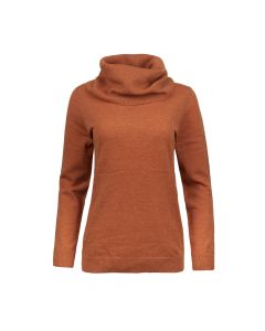 LOOSE TURTLE NECK PULLOVER, RUST