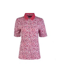 LADIES POLO PETIT FLOWER, FLAMINGO