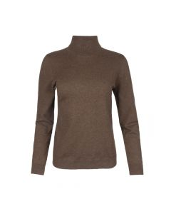 PULLOVER TURTLE NECK, BROWN