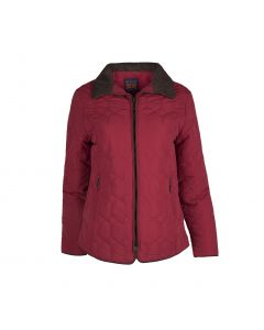 QUILTED JACKET, RED