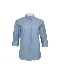 SHIRT 3/4 SLEEVE OXFORD, SKY