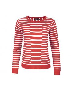 LADIES SWEATER STRIPE, RED