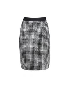 LADIES SKIRT HOUNDSTOOTH, BLACK/WHITE