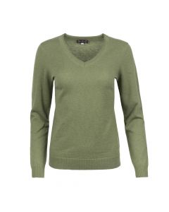 SWEATER V- NECK , OLIVE