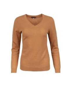 SWEATER V- NECK , RUST