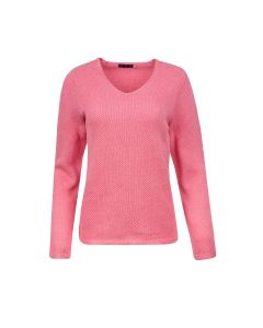 SWEATER V NECK STRUCTURE, PINK