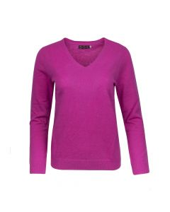 SWEATER V- NECK , RICH ROSE