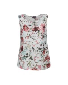 LADIES TOP FLOWER, CORAL