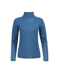 TURTLE NECK PULLOVER , TEAL