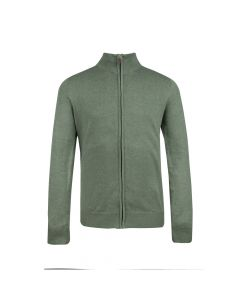 MENS CARDIGAN FULL ZIP, OLIVE