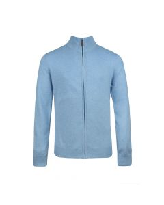 MENS CARDIGAN FULL ZIP, SKY