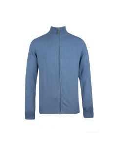 MENS CARDIGAN FULL ZIP, DENIM