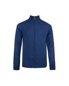 MENS CARDIGAN FULL ZIP, AZURE BLUE