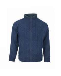CARDIGAN ZIP LINED, NAUTICAL