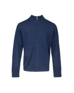 CARDIGAN MOCK NECK ZIP, NAVY