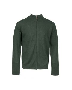 CARDIGAN MOCK NECK ZIP, OLIVE