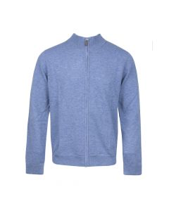 CARDIGAN MOCK NECK ZIP, BLUE