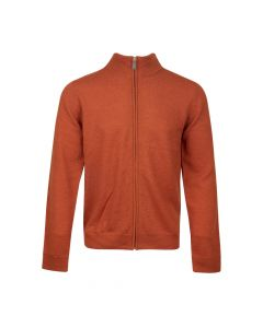 CARDIGAN MOCK NECK ZIP, ORANGE