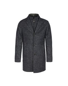 MENS DUFFLE COAT, NAVY