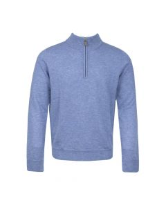 SWEATER HALF ZIP , BLUE