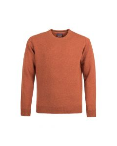 SWEATER ROUND-NECK, RUST
