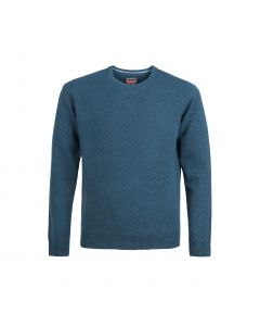 SWEATER ROUND-NECK, TEAL