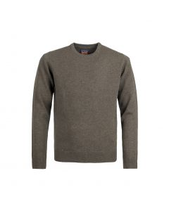 SWEATER ROUND-NECK, NUTMEG