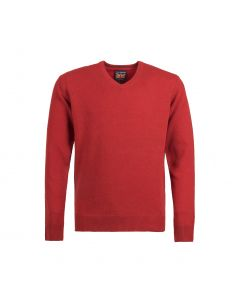 SWEATER V-NECK, RED