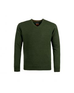 SWEATER V-NECK, OLIVE