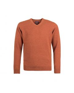 SWEATER V-NECK, RUST