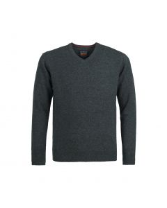SWEATER V-NECK, CHARCOAL