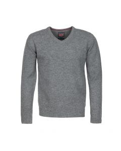 SWEATER V-NECK, GREY