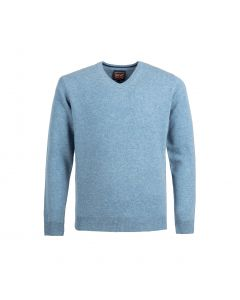 SWEATER V-NECK, SKY