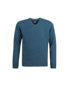 SWEATER V-NECK, TEAL