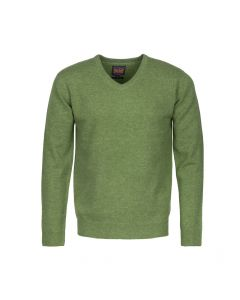 SWEATER V-NECK, GREEN