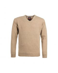 SWEATER V-NECK, CARAMEL