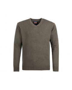 SWEATER V-NECK, NUTMEG