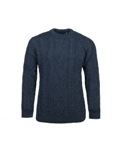 SWEATER ARAN , DENIM