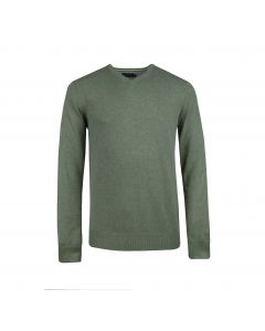 MENS SWEATER V-NECK , OLIVE