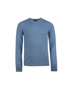 MENS SWEATER V-NECK , DENIM