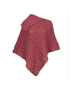 PONCHO, RED