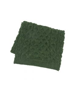 SCARF ARAN, BOTTLE GREEN
