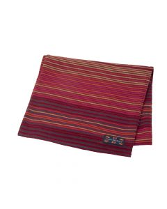 SCARF STRIPE , RED