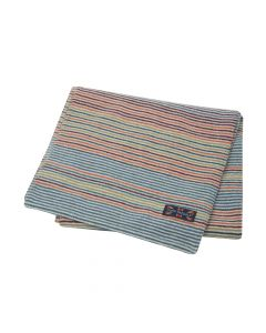 SCARF STRIPE , NATUREL