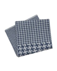 SHAWL HOUNDSTOOTH CLASSIC, NAVY