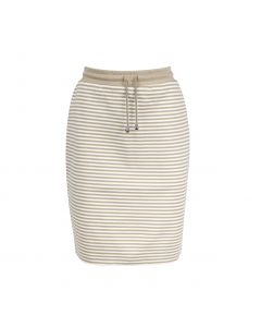 SKIRT STRIPE, BEIGE