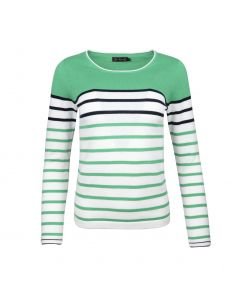 SWEATER STRIPE, SIGNAAL GROEN